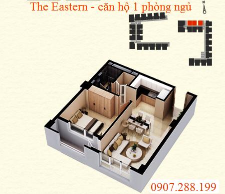BỐ TRÍ BÊN TRONG CĂN HỘ 1 PHÒNG NGỦ - THE EASTERN